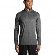 Brooks Dash Half-Zip Men - Male - Grijs - Grootte: Small