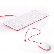 Raspberry Pi KIT COMBO TECLADO+RATON OFICIAL RASPBERRY PI (ROJO/BLANCO)