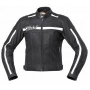 Held Brandon Motocyklová kožená bunda 48 Černá Bílá