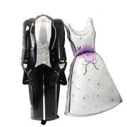 Baloane Miri, rochie de mireasă şi costum de mire