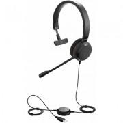 Слушалки Jabra Evolve 30 II MS, Моно, Микрофон, Черни