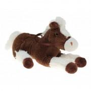 Geen Pluche knuffel paard bruin/wit 30 cm