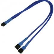 Cablu adaptor Y Nanoxia 3-pini Molex, 30cm, blue/black