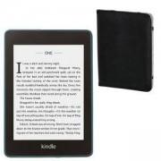 Електронен четец Kindle Paperwhite 2019 (32GB), Син E-Reader, Водоустойчив, Twilight Blue + Калъф HAMA за eBook четец, 6 инча черен - HAMA-173568