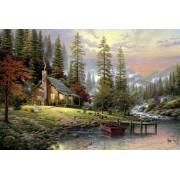 Puzzle Schmidt - Thomas Kinkade: Cabana in munti, 500 piese (58455)