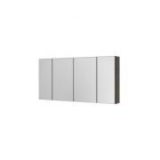 Dulap suspendat cu oglinda, Aquaform Amsterdam, negru, 120x16xH60 cm -0408-202912