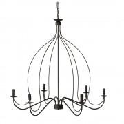 Maisons du Monde Lámpara de araña de metal negra D.100