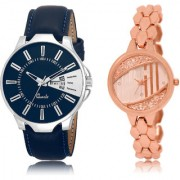 The Shopoholic Blue Rose Gold Combo Fashionable Funky Look Blue And Rose Gold Dial Analog Watch For Boys And Girls New Watches For Men