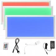 [lux.pro]® Panel LED rectangular RGB - 60x30 cm - para colgar / montar - 16 W - luz regulable con mando a distancia