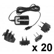Micro USB tápegység, univerzális töltő, 20 db-os csomag, 5 V, 1,2 A , 1,7 m kábel, TENWEI TAV01050120020