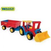 Traktor sa utovarivačem i prikolicom Wader 66300