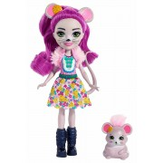 Mattel Enchantimals Mayla Il Topolino con Amico Cucciolo