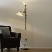 Alwine brass floor lamp two-bulb