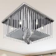 vidaXL Čtvercové křišťálové stropní svítidlo s hliníkovými pásky