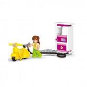 Girl's Dream benzinkút robogóval 37 darabos építőkészlet 1 figura