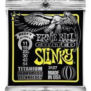 Ernie Ball Coated Electric Titanium RPS Beefy Slinky Set .011 - .054