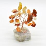 Copacel cu baza de fluorit si pietre de carneol 8cm