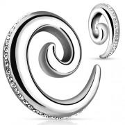 4 mm taper spiral met steentje
