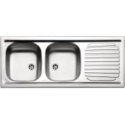 apell Fi1162milpc Lavello Cucina 2 Vasche Incasso Con Gocciolatoio Sx Larghezza 116 Cm Materiale Acciaio Inox Finitura Prelucida - Fi1162milpc Serie Firenze