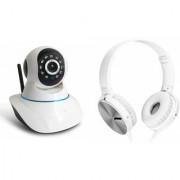 Zemini Wifi CCTV Camera and Extra Bass XB450 Headset for SAMSUNG GALAXY MEGA PLUS(Wifi CCTV Camera with night vision  Extra Bass XB450 Headset )
