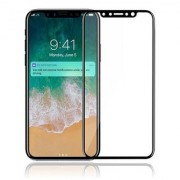 iPhone X Tempered Glass Real HD+ Full Body Black Tempered Glass For Apple iPhone X (Ten) - iPhone X (10) Tempered Glass