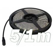 LED szalag kültéri (vízálló IP65) 14,4W / m teljesítménnyel, 620lm, 4000K semleges fehér színhőmérséklettel, 12V DC, 10mm széles, 60 LED/m SMD LED, 120°(Tracon LED-SZK-144-NW)