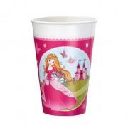 Pahare plastic 200 ml set 8 bucati Princess, Herlitz