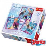Trefl Puzzle 3 u 1 Frozen (12-348323)
