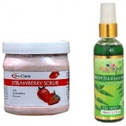 PINK ROOT NEEM FACE WASH 100ML WITH BIOCARE SHEA STRAWBERRY SCRUB 500GM