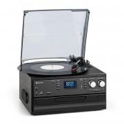 Auna Oakland DAB, ретро стерео система, DAB + / FM радио, BT функция, винил, CD, касети (TTS6-T408-4 FM/DAB)