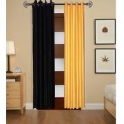 Iliv Plain Curtains Set Of 2 -1Black1Yellow9Ft