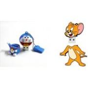 DARK EDGE Doraemon Fancy USB Flash Drive 16 GB With Cartoon Jerry 16 GB Pen Drive Pack of 2 Pendrive 16 GB Pen Drive(White, Blue)