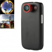 180 Degree Fisheye Lens + 0.67X Wide Lens + Marco Lens + Plastic Case for Samsung Galaxy S III / i9300 (Red)