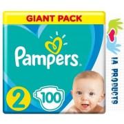 Pampers Premium Care | Maat 2 | 100 luiers | 4-8kg