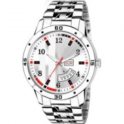 Lava Creation Analogue White Dial Day And Date Function watch for Gentlemen Premium Quality Men's Watch ( 2033-WH )