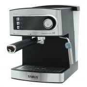 Espressor Samus Espressimo 20 Silver, Presiune 20 bari, 1.6 L, Duză abur pentru cappuccino, Filtru inox, Plită preincalzire cesti, Negru/Inox