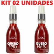 Kit 02 Quero Mais Gel Comestível Massagem 85ml Hot Flowers - Sex shop