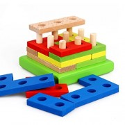 Star Mall Wooden Geometric Shape Sorting Board Baby Plan Toys
