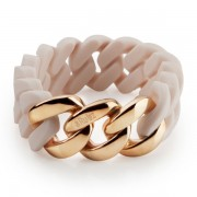 The Rubz Natural Silicone 20mm Unisex Bracelet Rose & Rose Gold