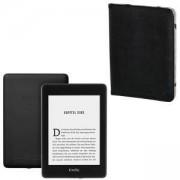 Електронен четец Kindle Paperwhite 2018, 32GB, 6 инча, водоустойчив, двойно място за съхранение, with special offers + Калъф Черен, HAMA-173568