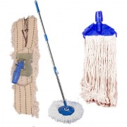 Oanik Home Cleaning Blue Spin Mop With Extra 2 Deffrent Refill