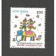 India 1993 National Children's Day Art Paintings Elephant Stamp MNH 1v