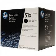 Консуматив HP 51X Black Dual Pack LaserJet Toner Cartridges