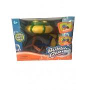 Pistol de facut baloane cu elice de elicopter si sunete, Galben/Verde