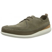 Clarks Men's Pitman Free Khaki Leather Clogs and Mules - 9 UK/India (43 EU)