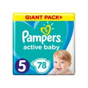 Scutece Pampers Active Baby Giant Pack Plus, marime 5, 78 buc