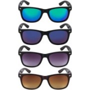 alience Wayfarer Sunglasses(Black, Brown, Blue, Green)