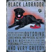 Merkloos Wand decoratie zwarte Labrador