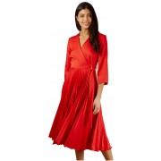 Closet London Rochie pentru femei Closet Wrap Pleated Dress Red XXL