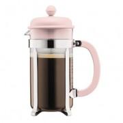 Bodum CAFFETTIERA Cafetière à piston avec couvercle en plastique, 8 tasses, 1.0 l, acier inox Strawberry